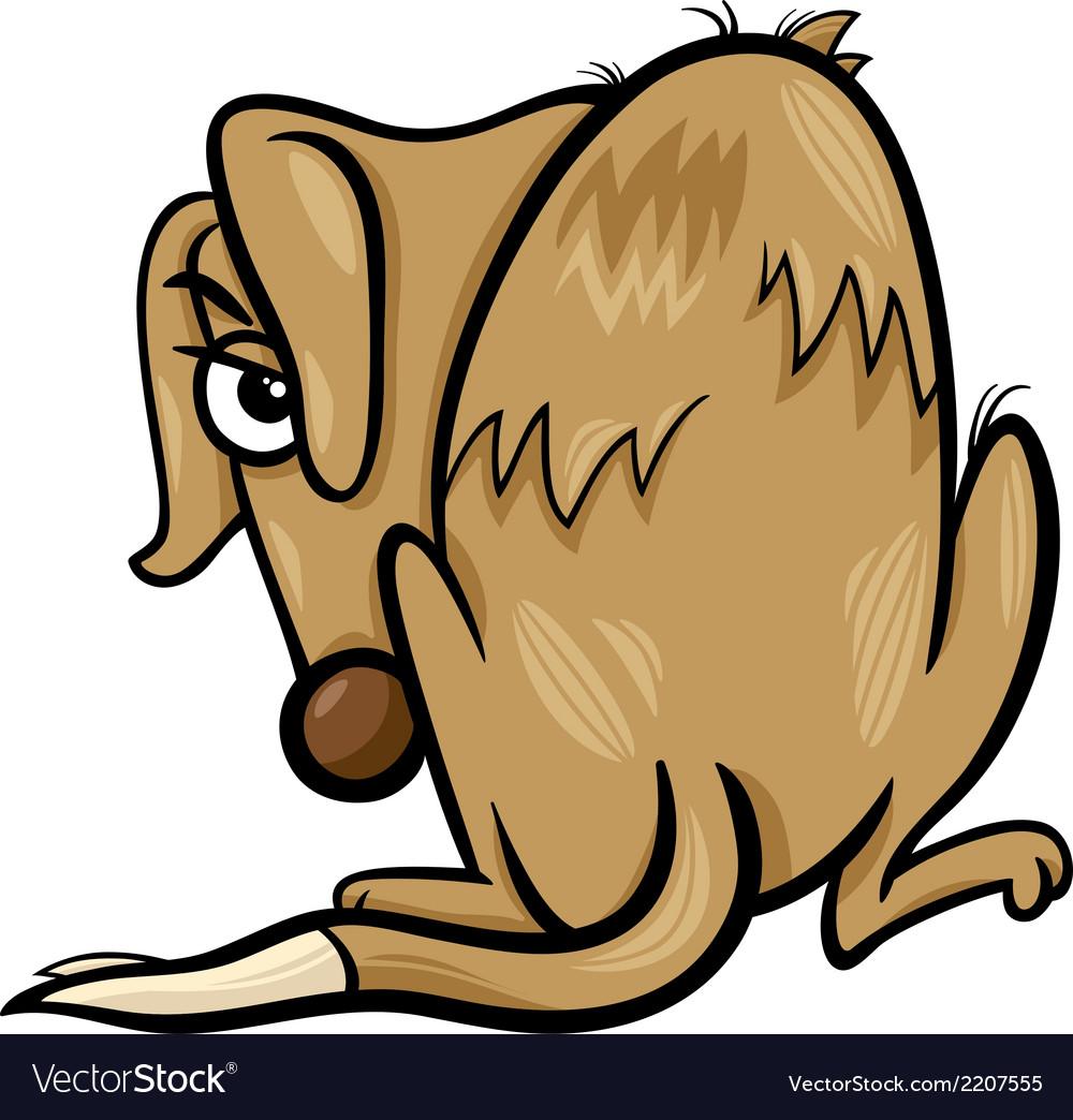 Poor homeless dog cartoon vector | Price: 1 Credit (USD $1)