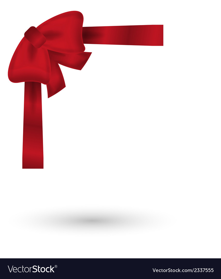 Red elegant bow vector | Price: 1 Credit (USD $1)