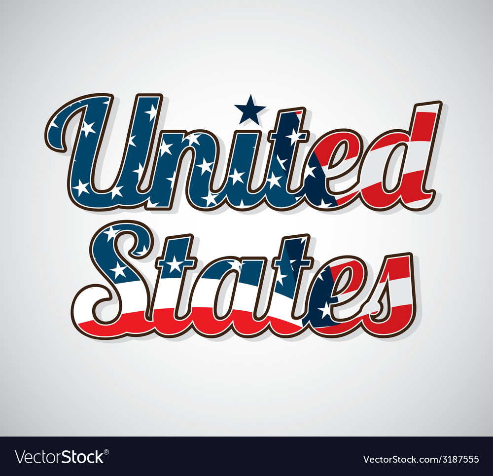 Usa celebration design vector | Price: 1 Credit (USD $1)