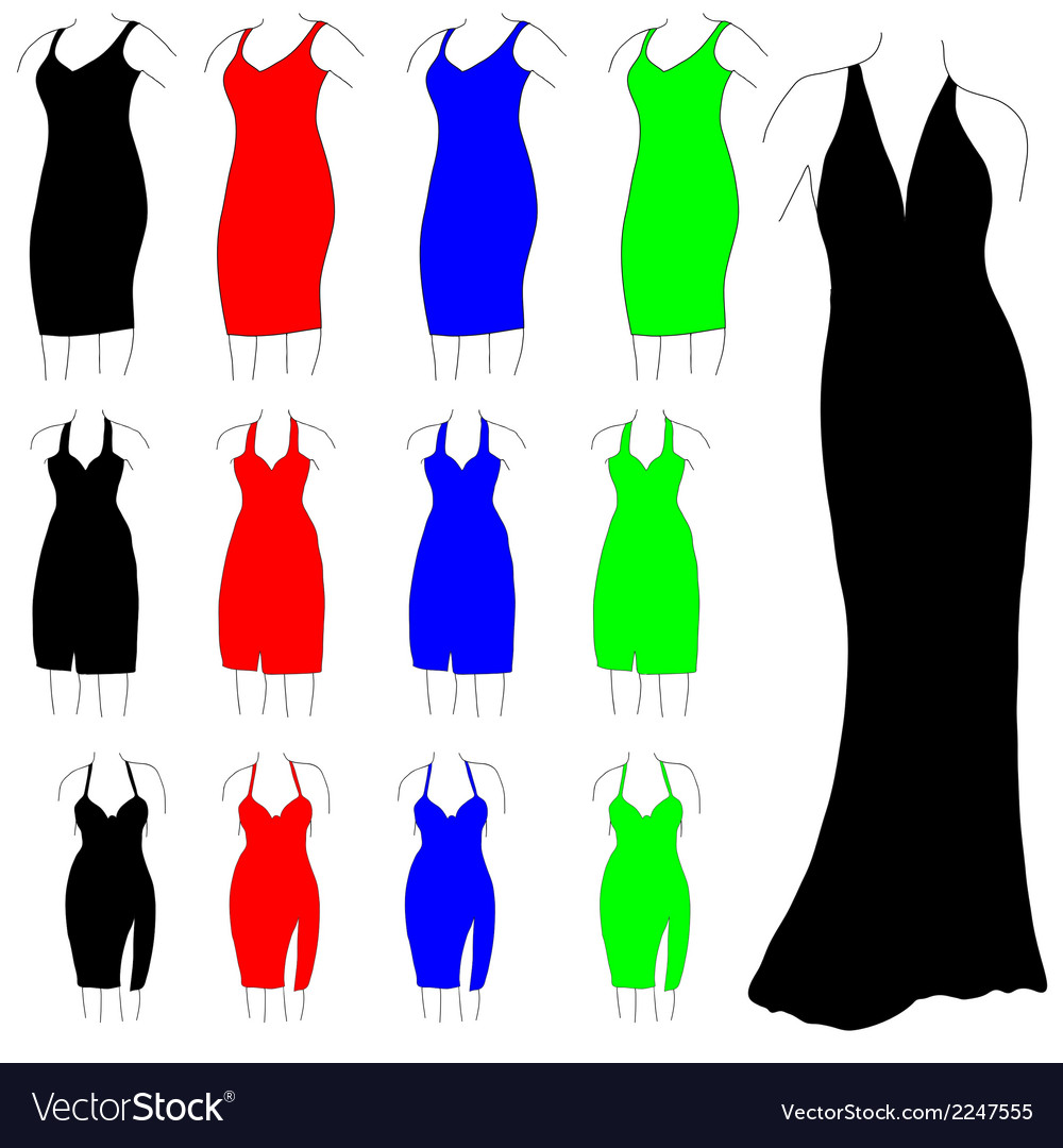 Womens formal dresses vector | Price: 1 Credit (USD $1)