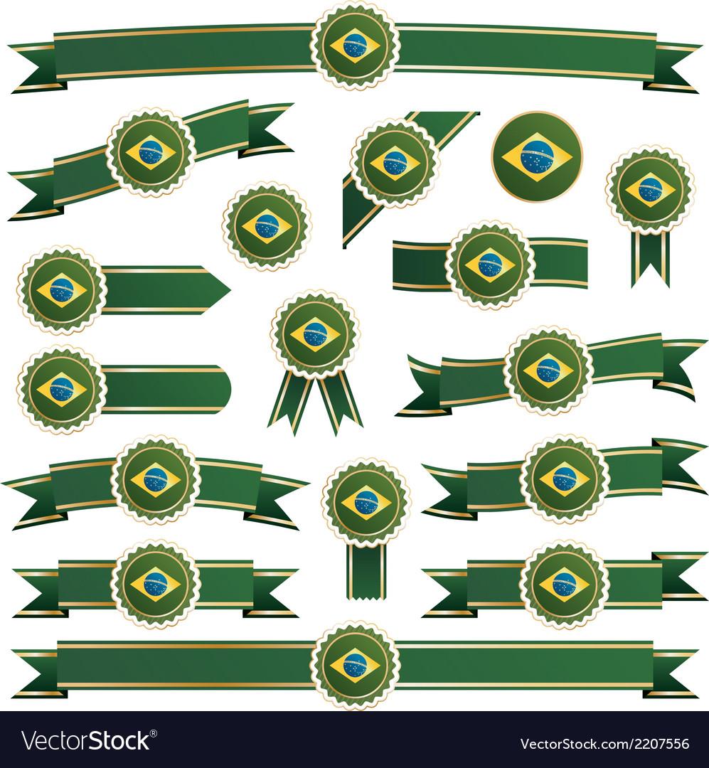 Brazil ribbons vector | Price: 1 Credit (USD $1)
