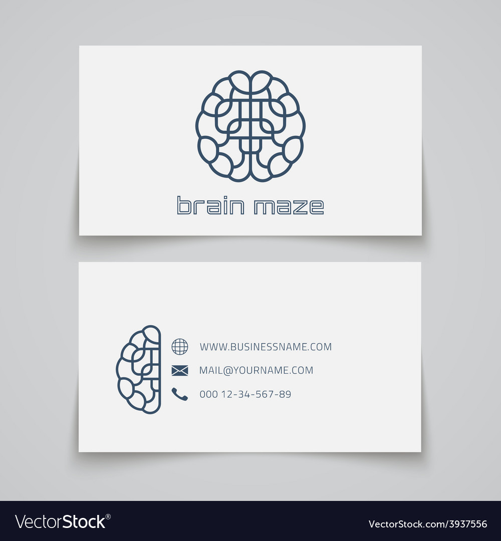 Business card template brain maze logo vector | Price: 1 Credit (USD $1)