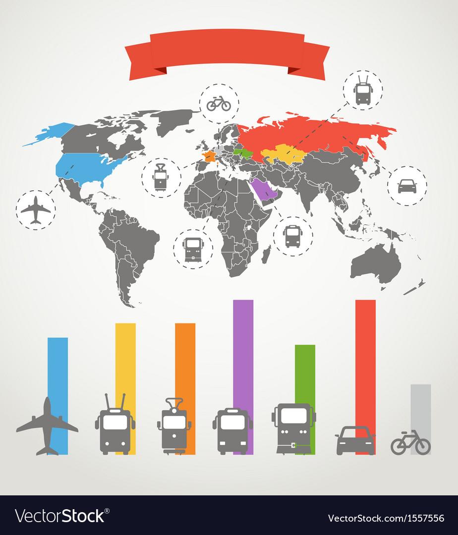 Color infographic transport scheme vector | Price: 1 Credit (USD $1)