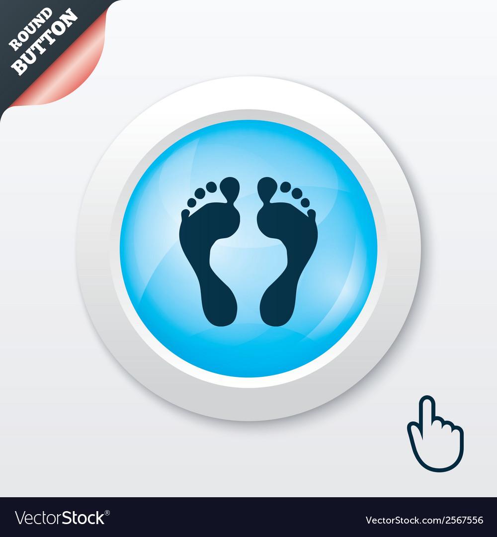 Human footprint sign icon barefoot symbol vector   Price: 1 Credit (USD $1)