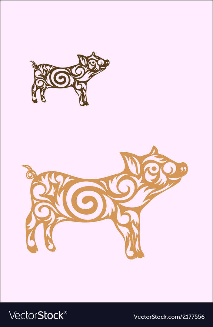 Little pig vector | Price: 1 Credit (USD $1)