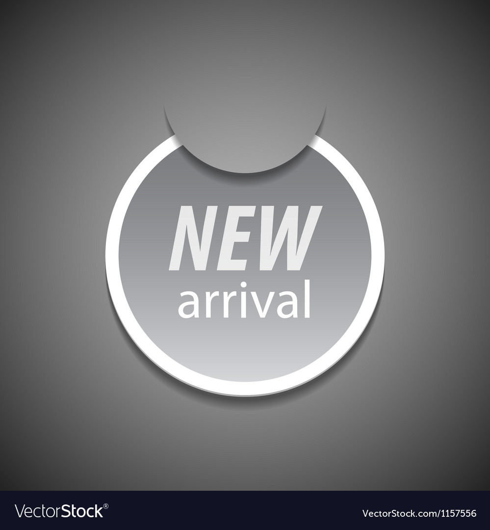 New arrival tag vector   Price: 1 Credit (USD $1)