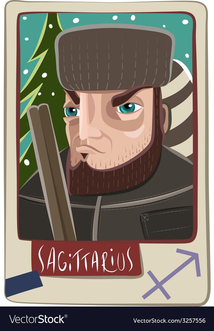 Sagittarius man vector | Price: 1 Credit (USD $1)