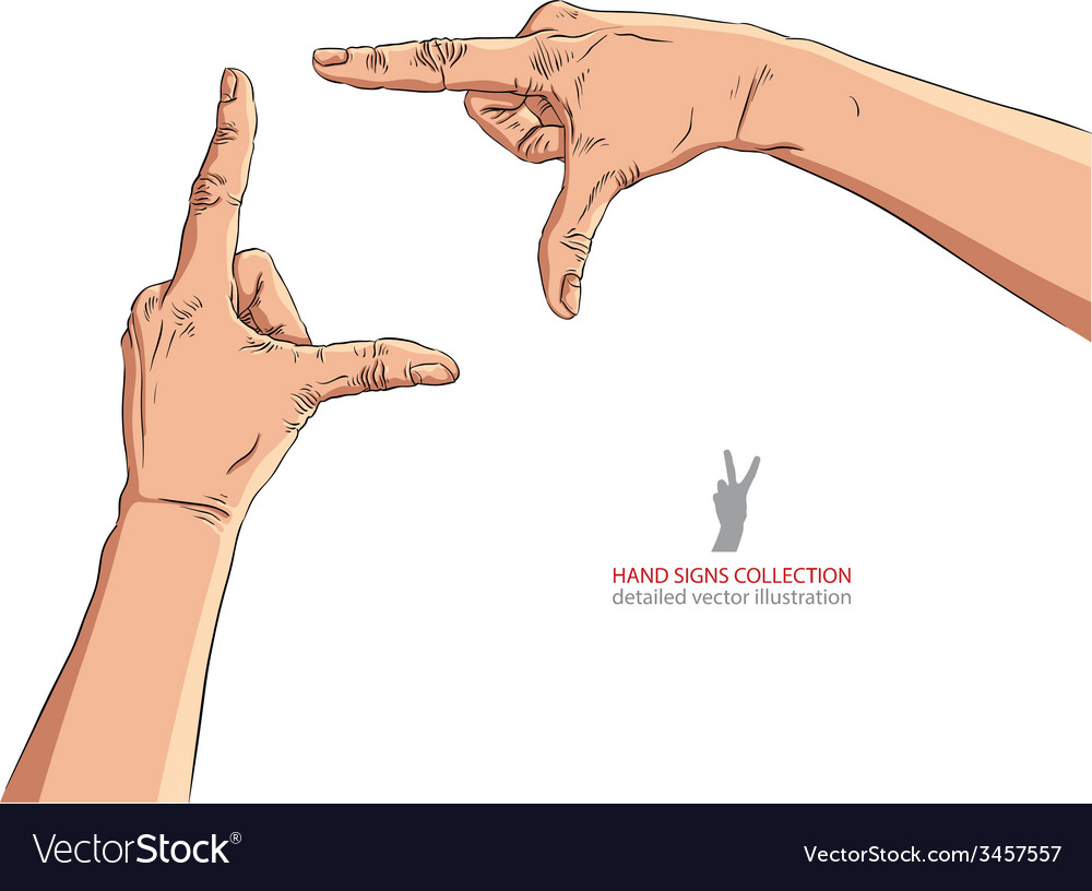 Hands shaped in viewfinder detailed vector | Price: 1 Credit (USD $1)