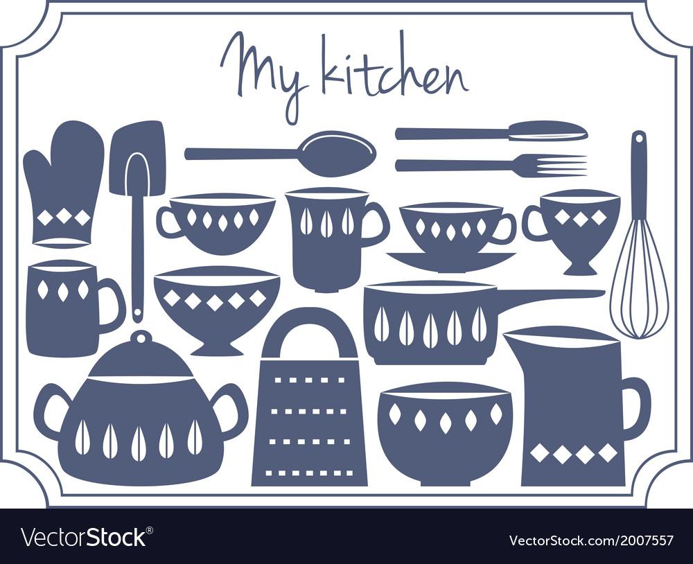 Kitchen label vector | Price: 1 Credit (USD $1)