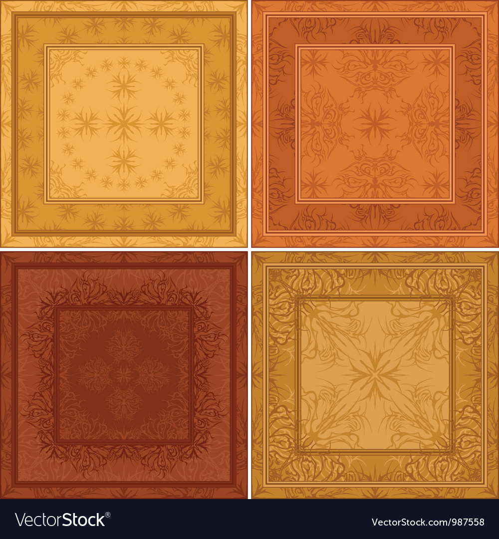 Abstract pattern background tile set vector | Price: 1 Credit (USD $1)