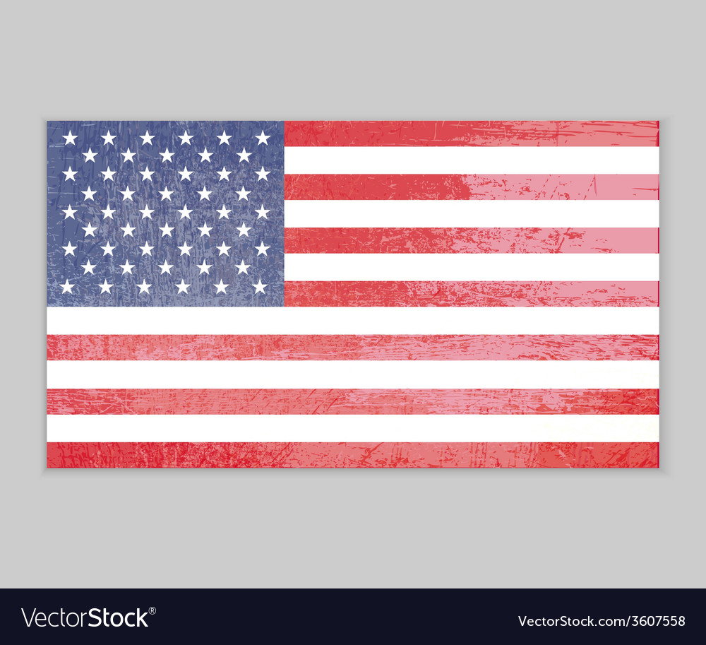 America flag grunge background vector | Price: 1 Credit (USD $1)