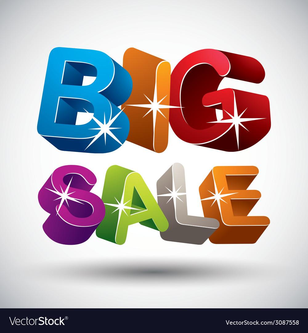 Big sale vector | Price: 1 Credit (USD $1)
