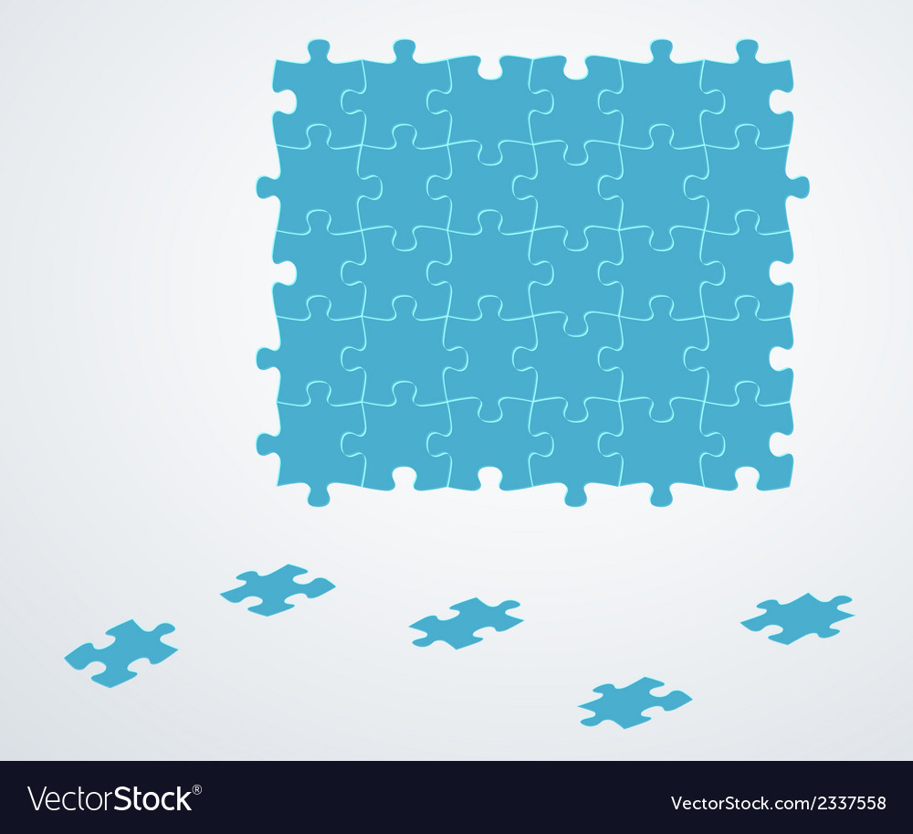 Blue puzzle pieces vector | Price: 1 Credit (USD $1)