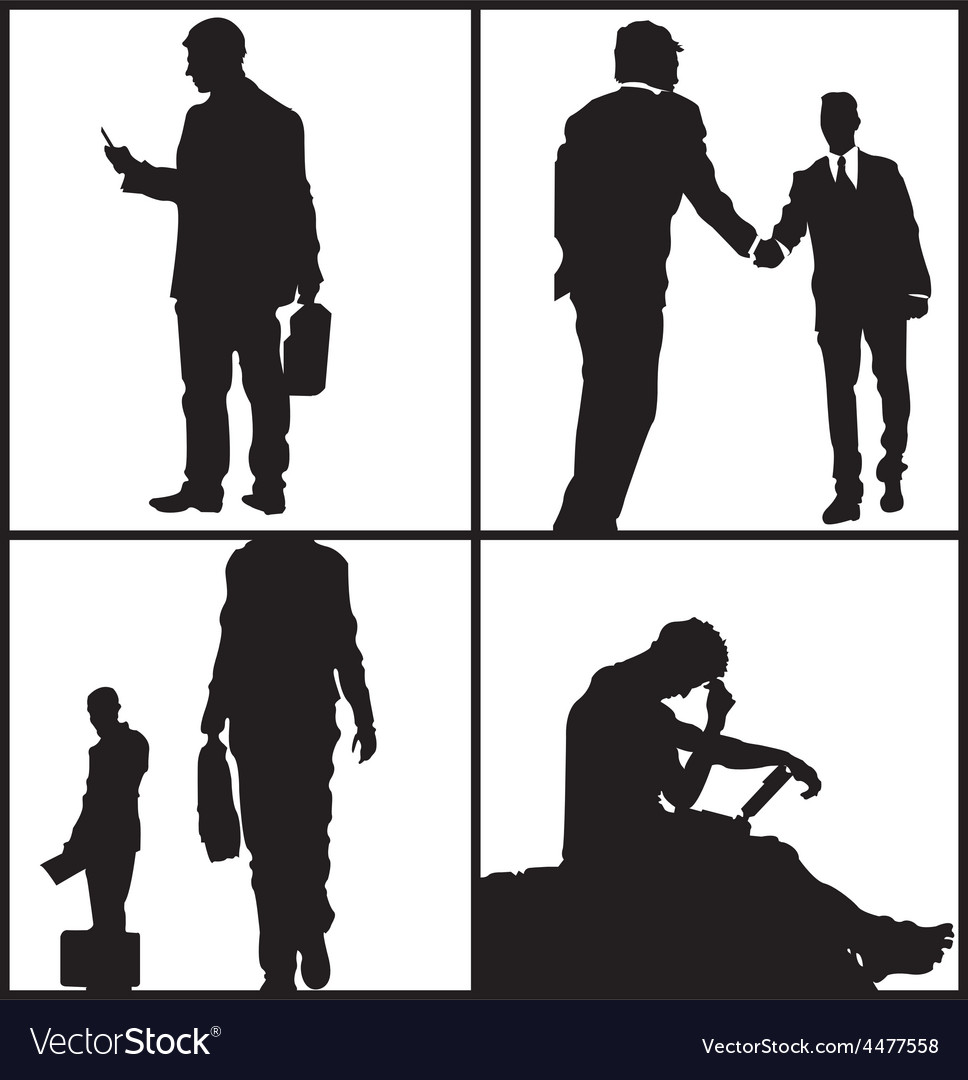 Business men sillhouettes vector | Price: 1 Credit (USD $1)