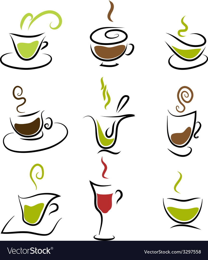 Coffee and tea design elements vector | Price: 1 Credit (USD $1)