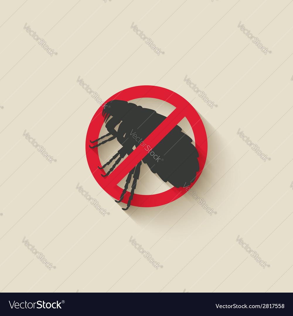 Flea warning sign vector | Price: 1 Credit (USD $1)