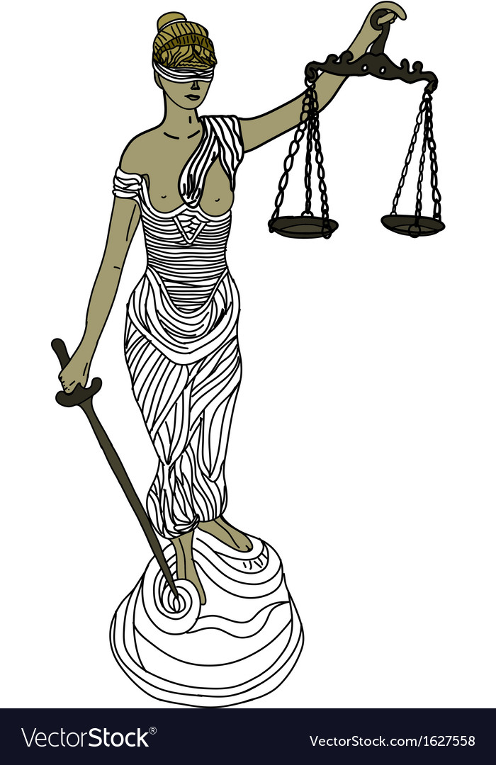 Themis mythological greek goddess vector | Price: 1 Credit (USD $1)