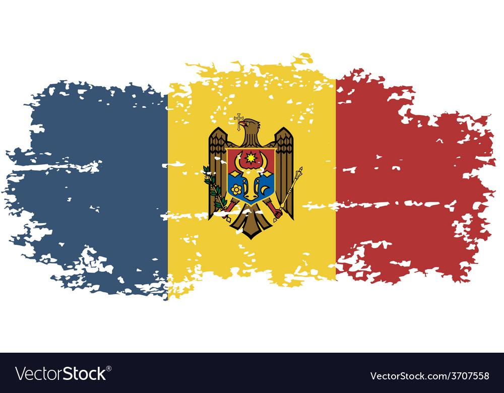 Moldova grunge flag vector   Price: 1 Credit (USD $1)
