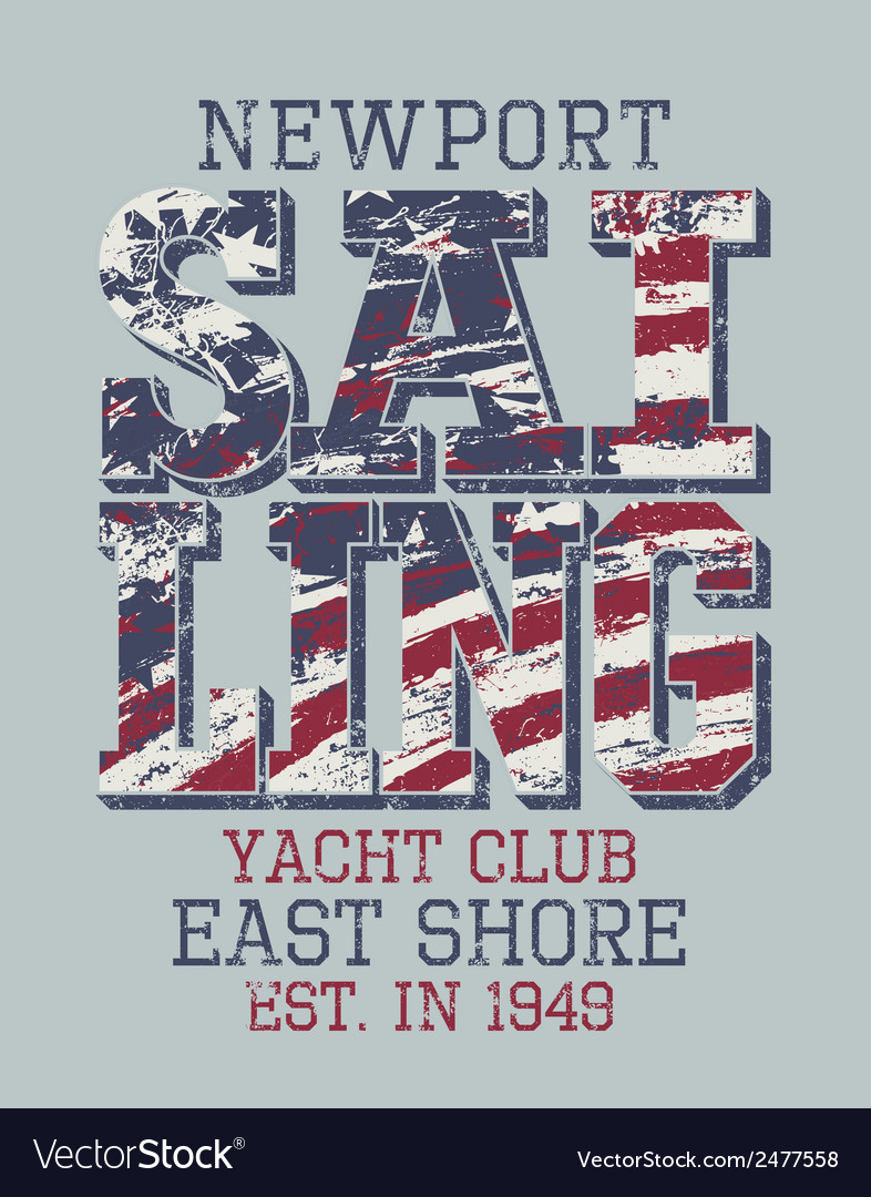 Newport sailing club vector | Price: 3 Credit (USD $3)