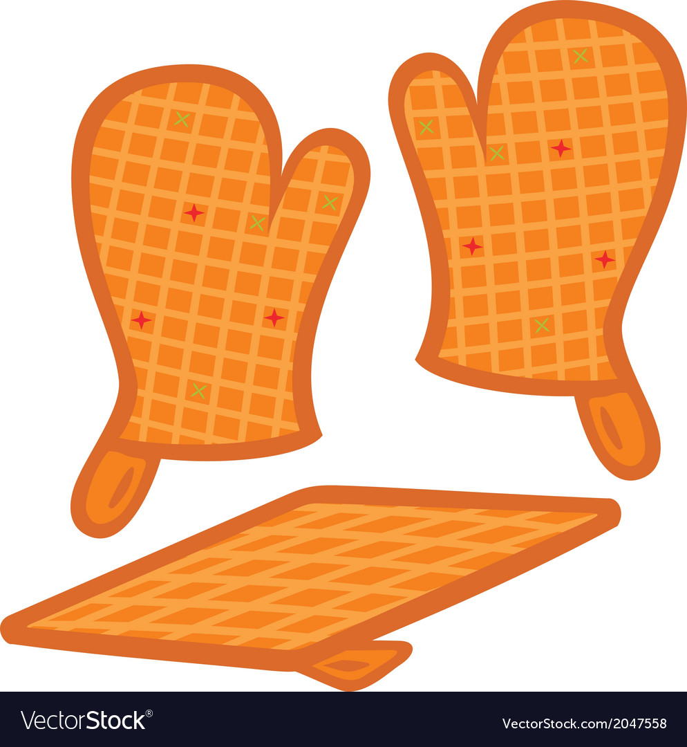 Oven mitts and pot-holder vector | Price: 1 Credit (USD $1)