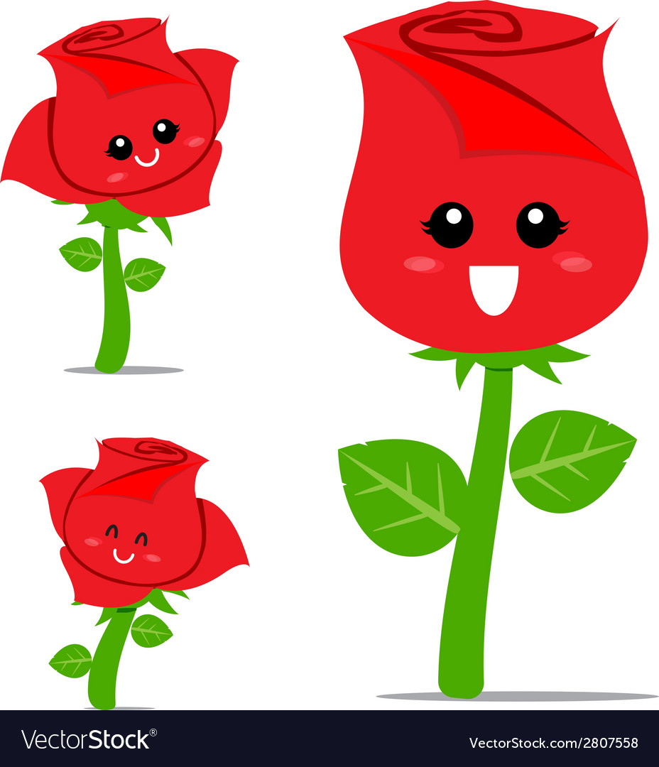 Rose cartoon 001 vector | Price: 1 Credit (USD $1)