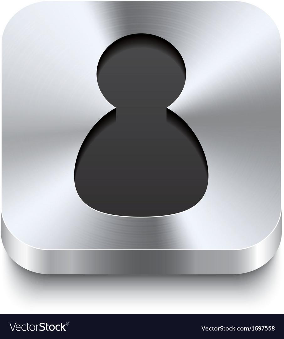 Square metal button perspektive - user icon vector | Price: 1 Credit (USD $1)