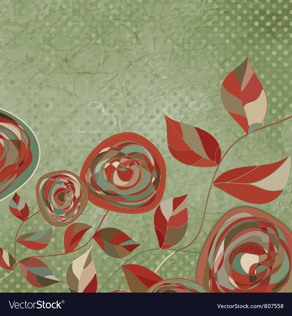 Vintage rose card vector   Price: 1 Credit (USD $1)