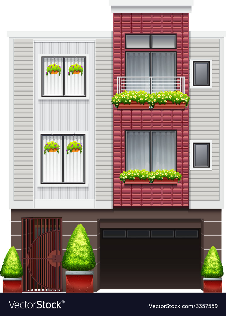 A big commercial building vector | Price: 1 Credit (USD $1)