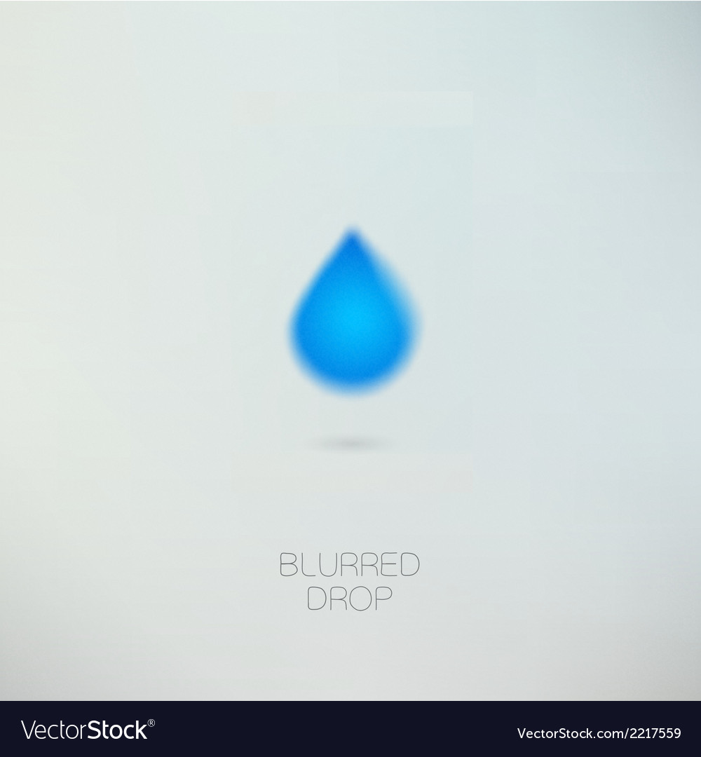 Clean pure water drop vector | Price: 1 Credit (USD $1)