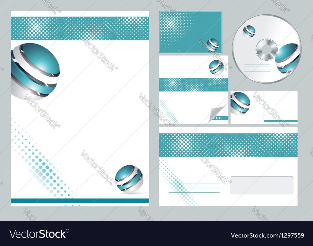 Corporate identity template vector | Price: 1 Credit (USD $1)