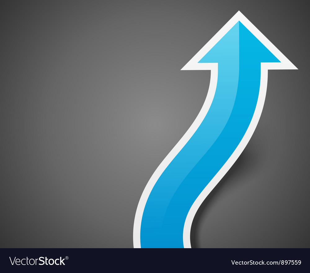 Graph arrow move up background eps vector | Price: 1 Credit (USD $1)