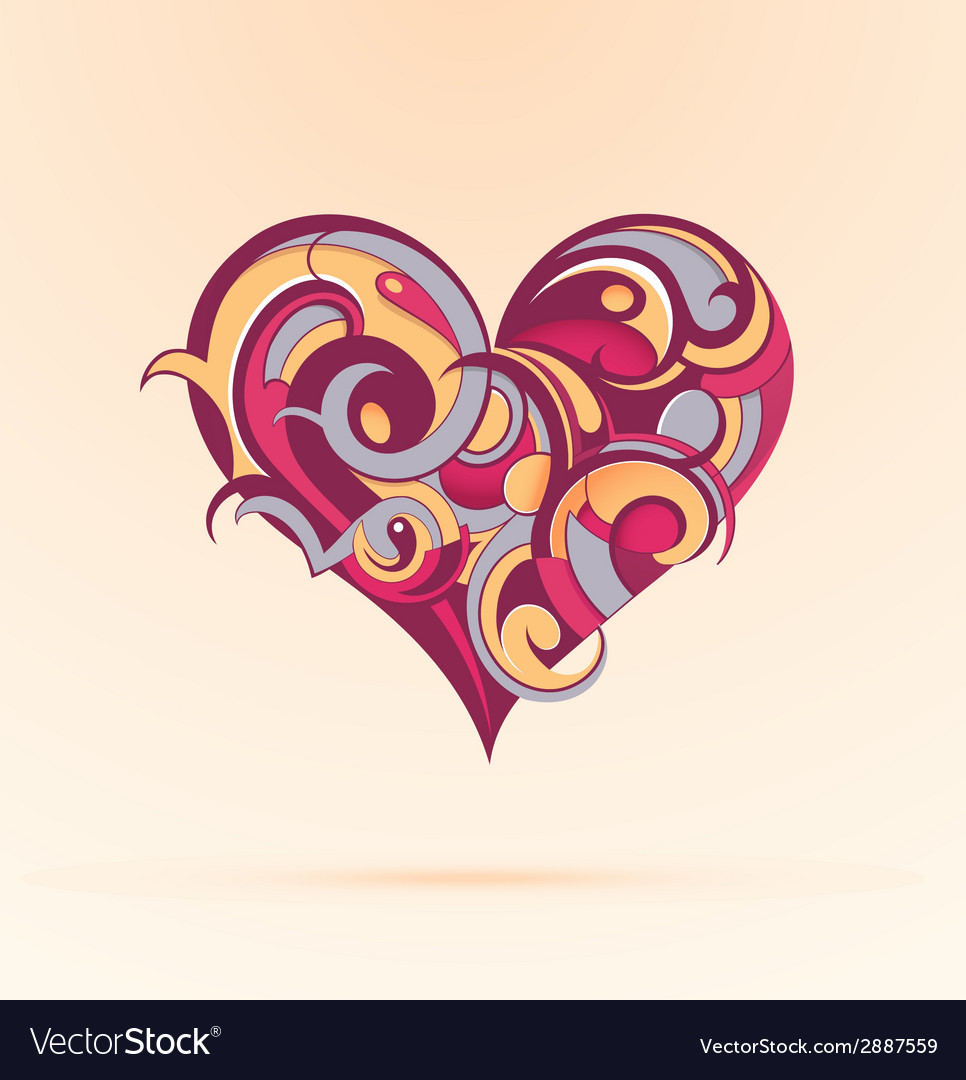 Heart-shape design vector | Price: 1 Credit (USD $1)