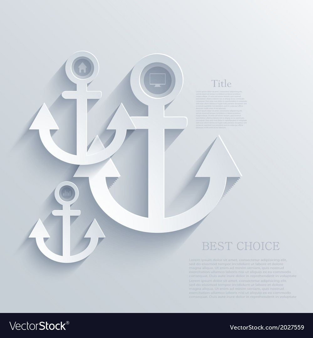 Modern anchor background eps 10 vector | Price: 1 Credit (USD $1)