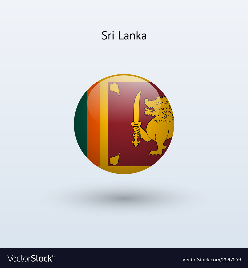 Sri lanka round flag vector