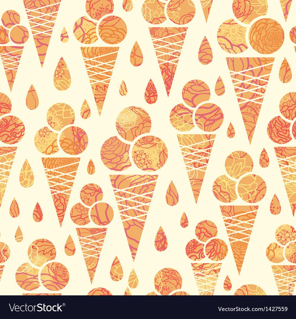 Summer ice cream cones seamless pattern background vector   Price: 1 Credit (USD $1)