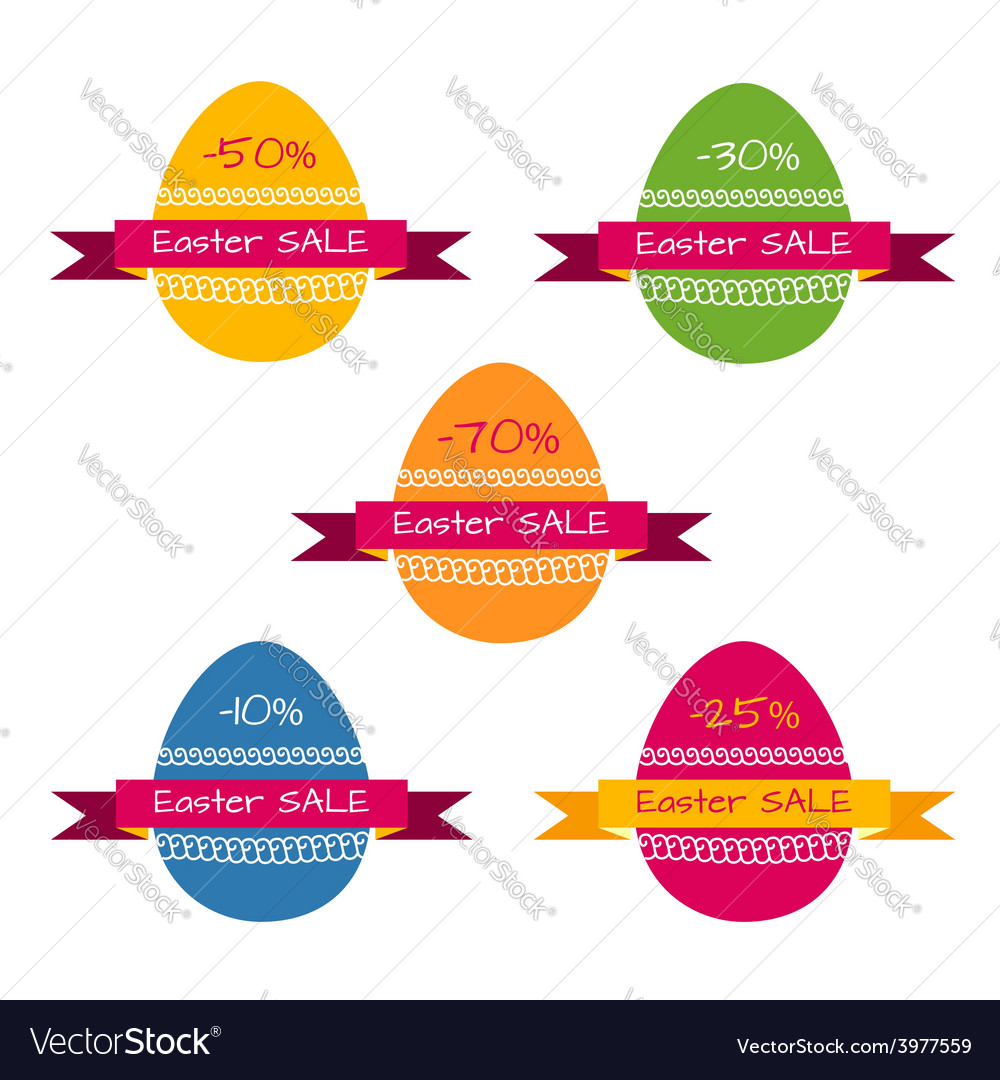 Tags template for easter sale vector | Price: 1 Credit (USD $1)