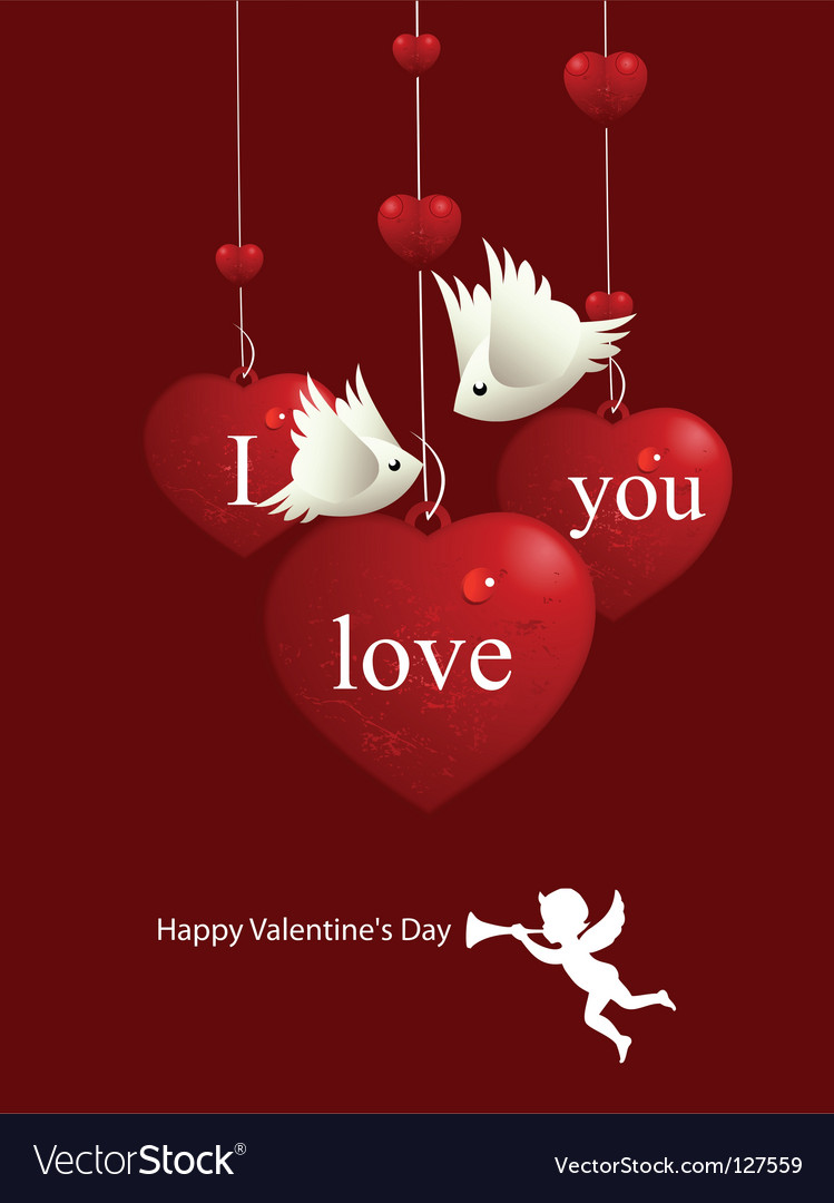 Valentines day birds vector | Price: 1 Credit (USD $1)