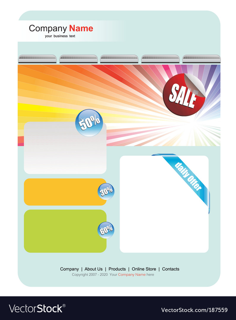 Web site sales template vector | Price: 3 Credit (USD $3)