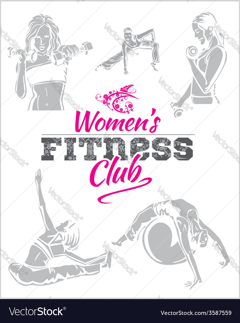 Womens fitness gym  stock vector