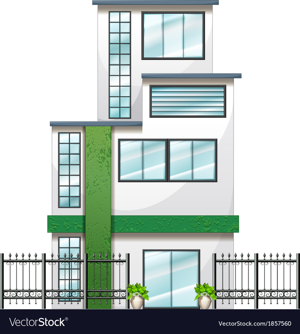 A newly built tall building vector | Price: 1 Credit (USD $1)