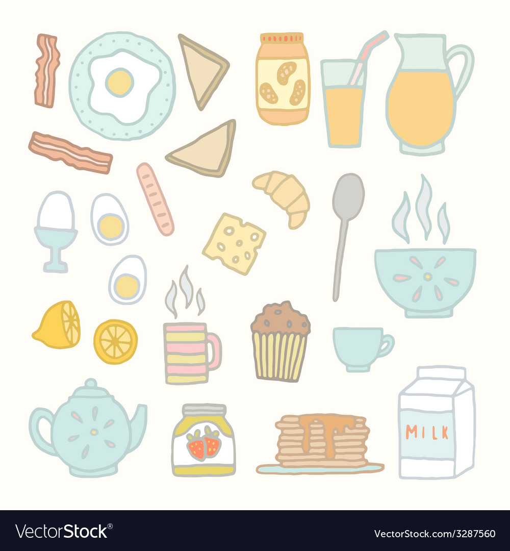 Breakfast food and drink vector | Price: 1 Credit (USD $1)