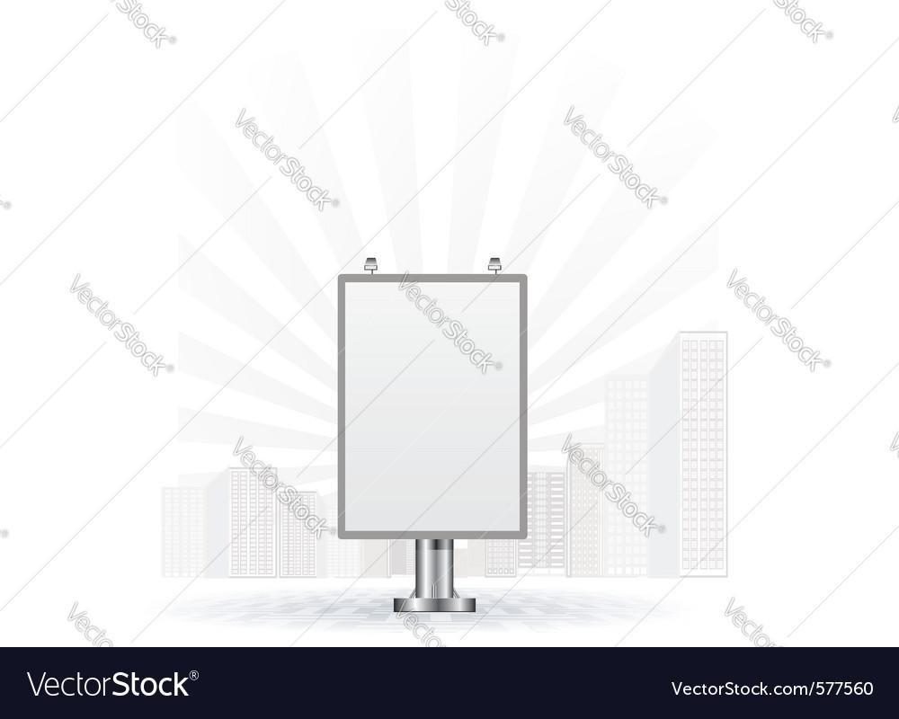 City light board vector | Price: 1 Credit (USD $1)