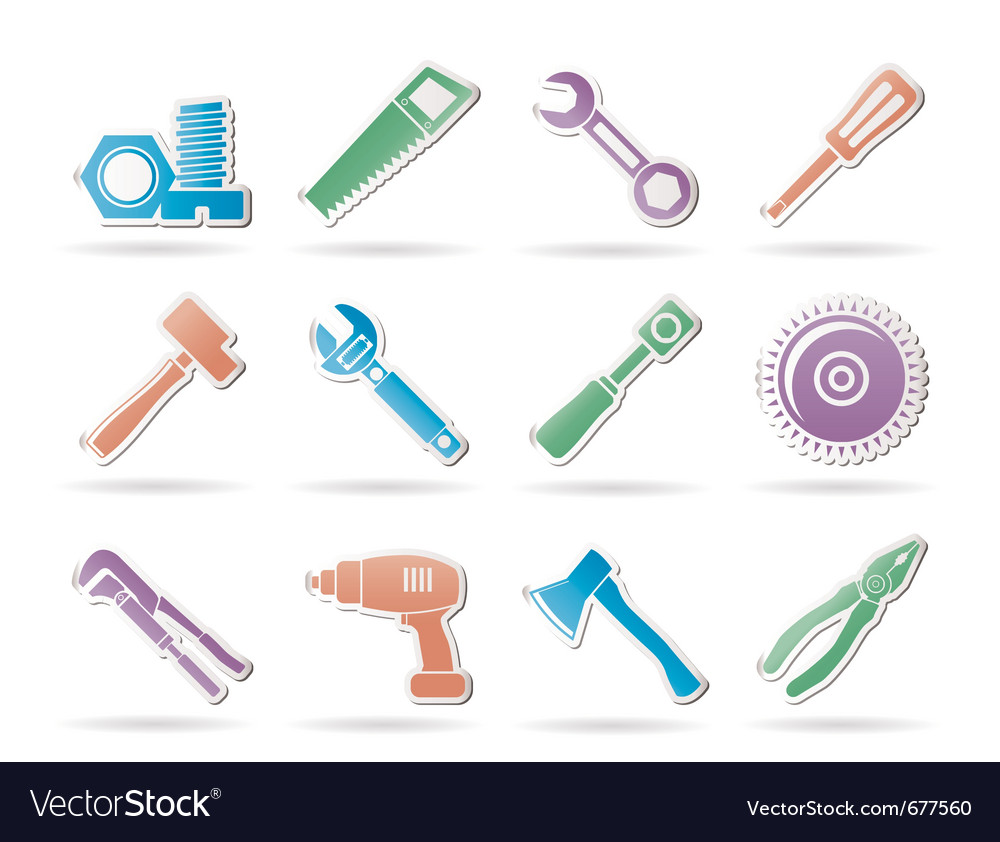 Construction tools icons vector | Price: 1 Credit (USD $1)