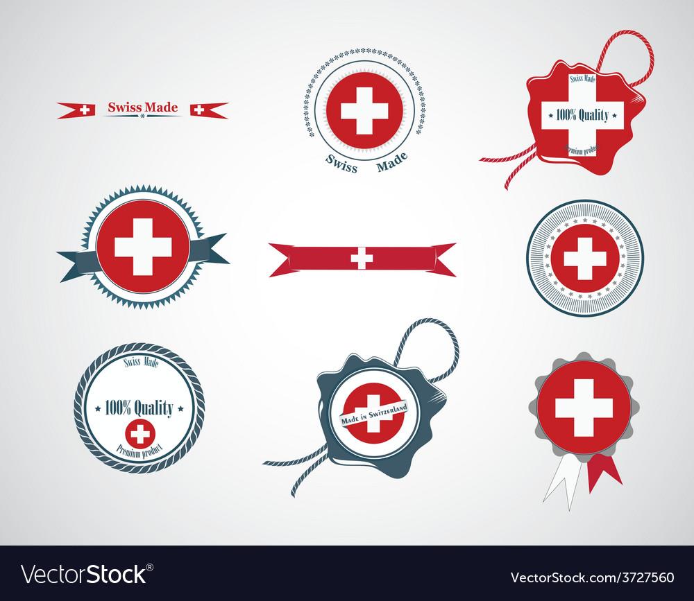 Made in switzerland - set of seals badges vector | Price: 1 Credit (USD $1)