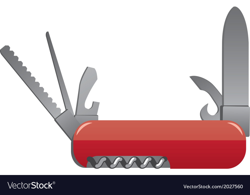 Pocket knife vector | Price: 1 Credit (USD $1)
