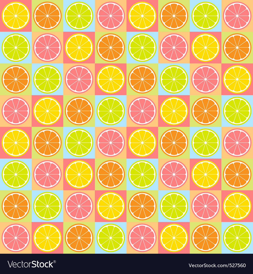 Seamless citrus pattern vector | Price: 1 Credit (USD $1)