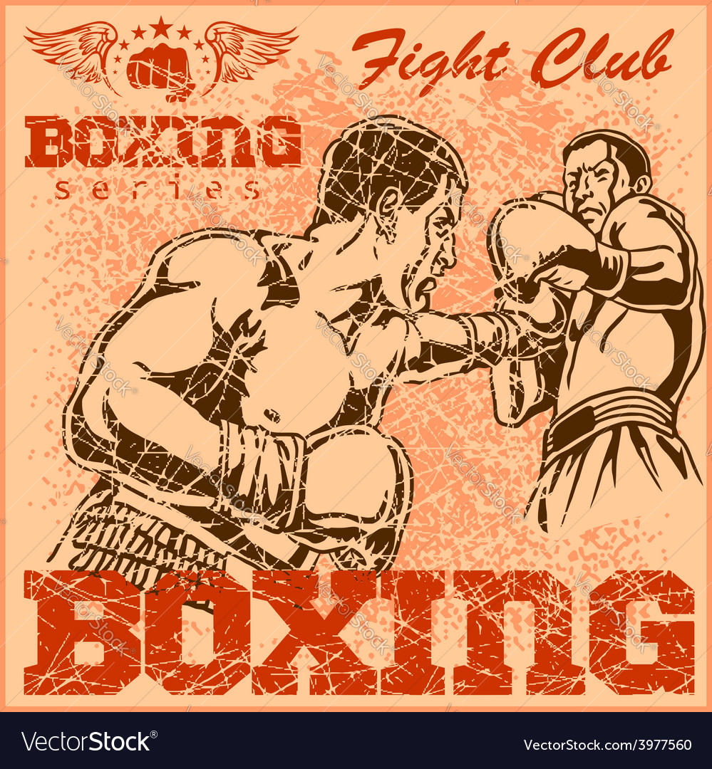 Vintage boxing poster vector | Price: 3 Credit (USD $3)