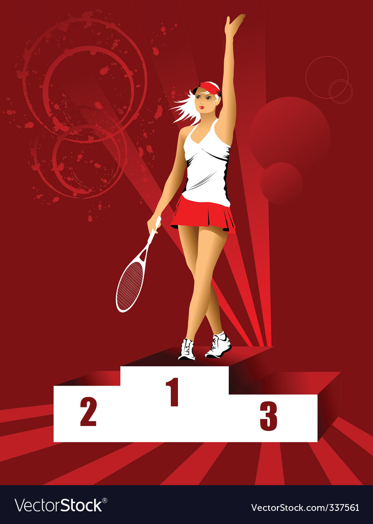 Champion tennis vector | Price: 1 Credit (USD $1)