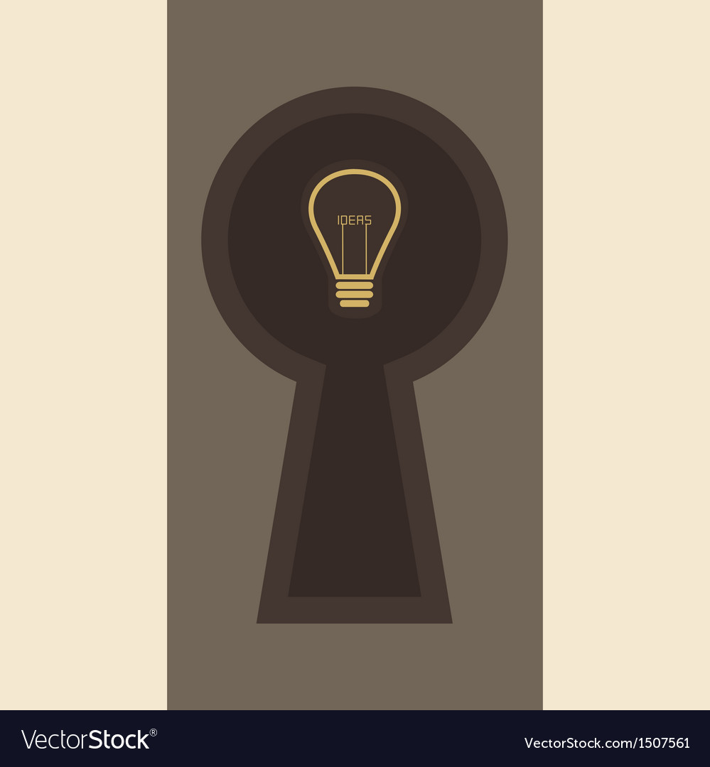 Ideas inside keyhole vector | Price: 1 Credit (USD $1)