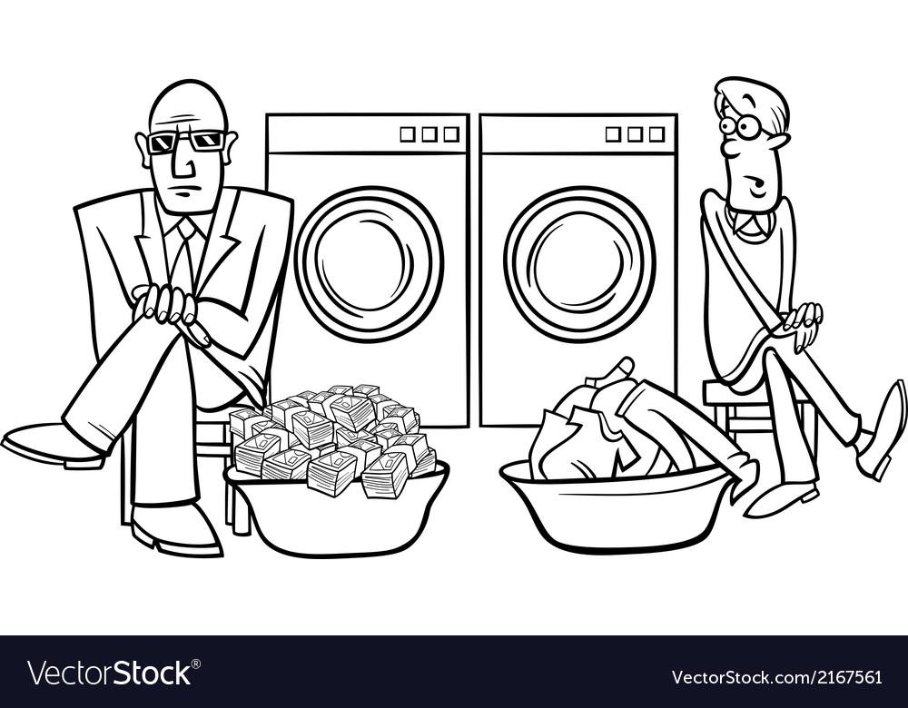 Money laundering cartoon vector | Price: 1 Credit (USD $1)